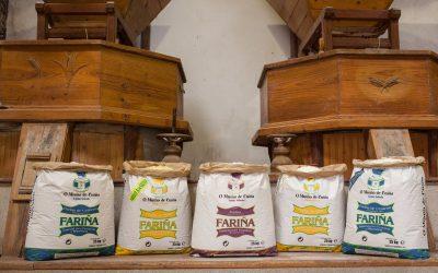 O Muíño de Cuíña presenta as súas fariñas de trigo do país producidas en muíño de pedra